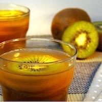 Aspic de kiwi et poire à l'agar agar