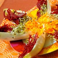 Barquettes vitaminées aux graines germées de fenouil