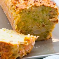 Cake vegan sans gluten au chou romanesco