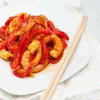 Crevettes aigre douce à la plancha