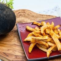 Frites de radis noir au four