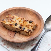 Gâteau au pain rassis sans gluten ni lactose anti-gaspi