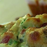 muffins salés courgette fêta lardons
