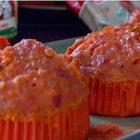 Muffins salés au paprika et poivron