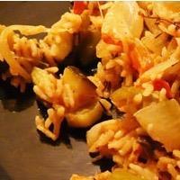 Ratatouille au riz parfumée au thym et au laurier