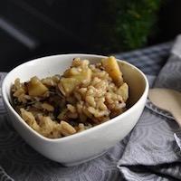 risotto panais graines germées brocolis