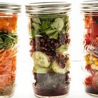 Salade en bocal ou salade jar