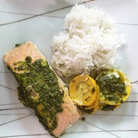 saumon courgettes riz basmati