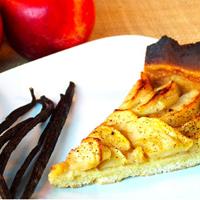 Tarte aux pommes à la vanille sans gluten