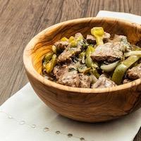 Wok de bœuf basilic et poivrons verts paléo sans gluten