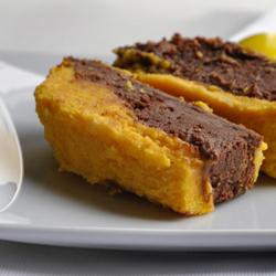 Gâteau duo de chocolat et courge butternut