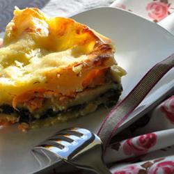lasagnes sans gluten saumon et épinard
