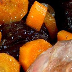 Épaule d'agneau aux carottes et pruneaux sucré/salé à l'omnicuiseur