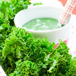 Smoothie vert au chou Kale