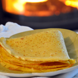 crêpe à l'orange sans gluten