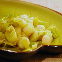 poêlée de saint Jacques aux poireaux saveur curry