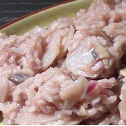 risotto de topinambours et champignons